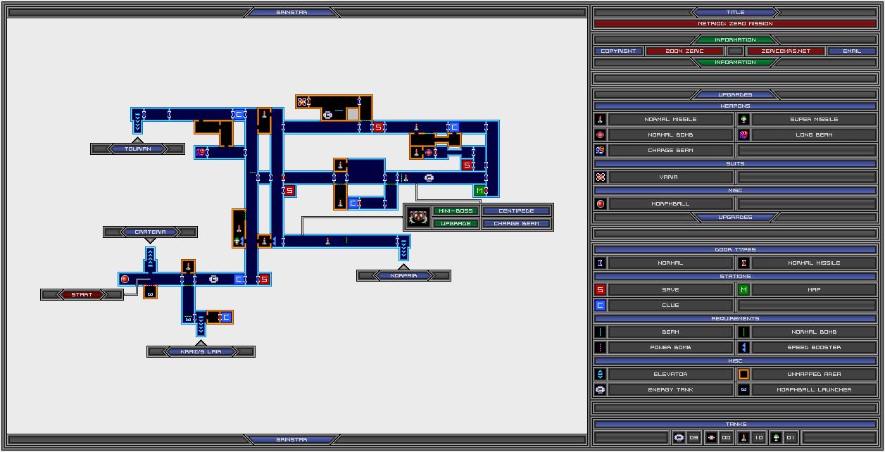 Samuscouk Interactive Zero Mission Map Brinstar