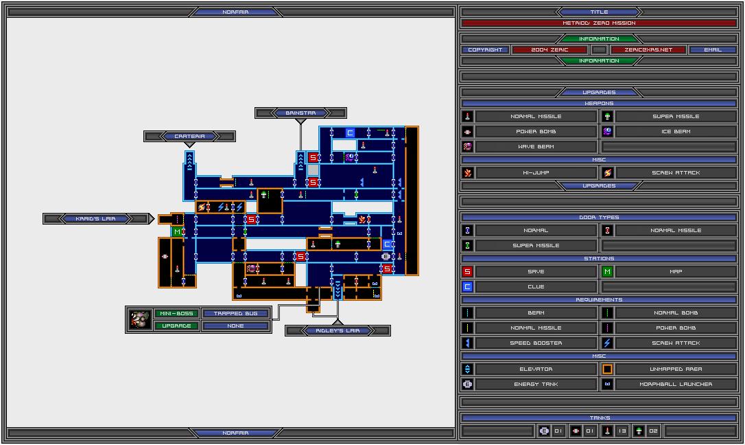 Samuscouk Interactive Zero Mission Map Norfair