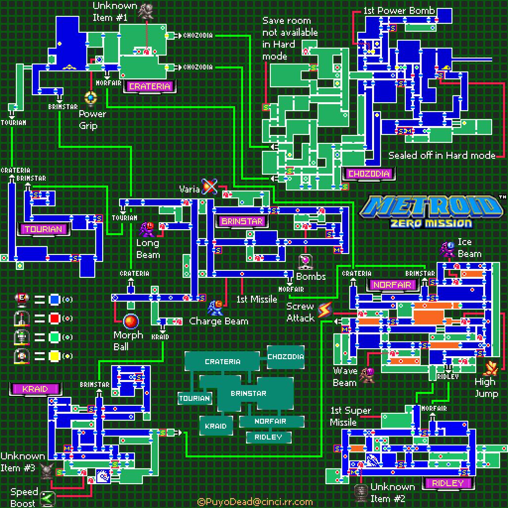 Metroid Zero Mission Maps Samuscouk