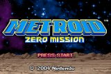 Zero Mission Title Screen